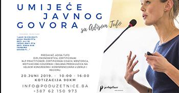 Umjeće javnog govora sa Adisom Tufo 20.06.2019.