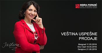Vještine uspješne prodaje sa Indirom Popadić 21.06.2019.